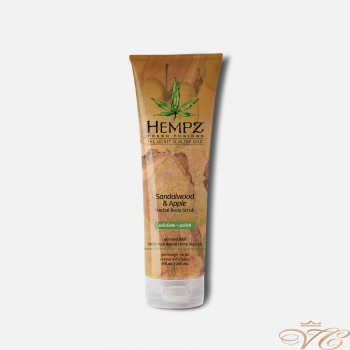 Скраб для тела Сандал и Яблоко Hempz Pure Herbal Extracts Sandalwood and Apple Herbal Body Scrub Exfoliate + Polish