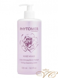 Розовая вода Phytomer Rosee Visage Toning Cleansng Lotion 500 мл.